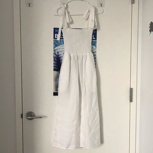 Reformation White MIDI Dress